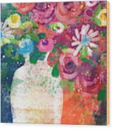 Delightful Bouquet 2- Art By Linda Woods Wood Print