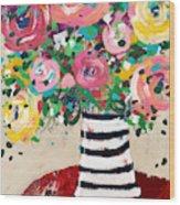 Delightful Bouquet 5- Art By Linda Woods Wood Print