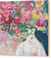 Delightful Bouquet- Art By Linda Woods Wood Print
