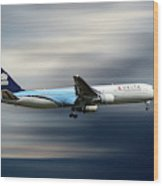Delta Air Lines Boeing 767-332 Wood Print
