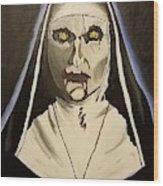 Demon Nun Wood Print
