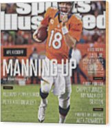Denver Broncos Vs Pittsburgh Steelers Sports Illustrated Cover Wood Print