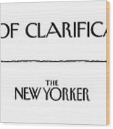 Department Of Clarification Wood Print