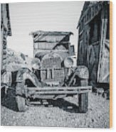 Depression Era Dust Bowl Car Wood Print