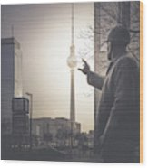 Der Bauarbeiter, Berlin, 2015 Wood Print