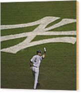 Derek Jeter Walks To The Plate Wood Print