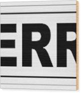 Derry City Nameplate Wood Print