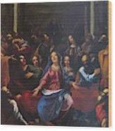 Descente Du Saint Esprit 1635 Wood Print