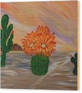 Desert Blooms Wood Print