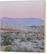 Desert On Fire No.1 Wood Print