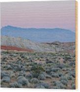 Desert On Fire No.2 Wood Print