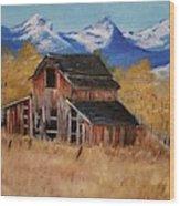 Deserted Barn Wood Print
