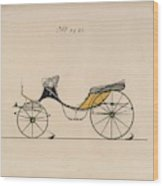 Design For Cabriolet Or Victoria, No. 3221 Brewster And Co. American, New York Wood Print