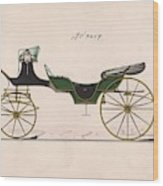 Design For Cabriolet Or Victoria, No. 3459  1875 Wood Print