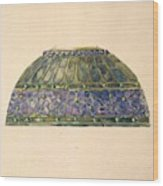 Design For Floral Lamp  Louis Comfort Tiffany American, New York 1848-1933 New York Wood Print