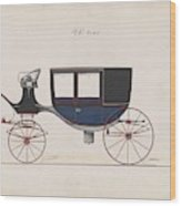 Design For Glass Panel Coach, No. 3133  1875 Wood Print