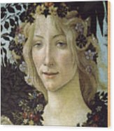Detail From The Primavera, Circa 1478, Tempera On Panel Wood Print