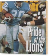 Detroit Lions Barry Sanders... Sports Illustrated Cover Wood Print