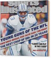 Detroit Lions Qb Joey Harrington... Sports Illustrated Cover Wood Print