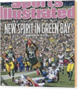 Detroit Lions V Green Bay Packers Sports Illustrated Cover Wood Print