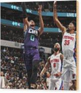 Detroit Pistons V Charlotte Hornets Wood Print