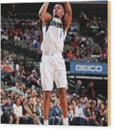Detroit Pistons V Dallas Mavericks Wood Print