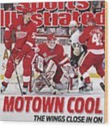 Detroit Red Wings Goalie Chris Osgood, 2009 Nhl Stanley Cup Sports Illustrated Cover Wood Print