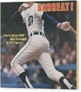 Detroit Tigers Alan Trammell, 1984 World Series Sports Illustrated Cover Wood Print