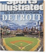 Detroit Tigers Comerica Park Sports Illustrated Cover Wood Print