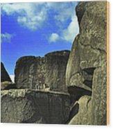 Devil's Den Rock Forms Wood Print