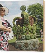 Diamond Jubilee Floral Crown Installed Wood Print