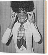 Diana Ross Wood Print