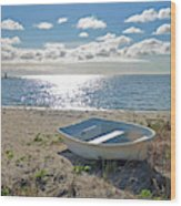 Dinghy On A Sunny Beach Wood Print