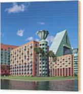 Disney Dolphin Hotel Wood Print
