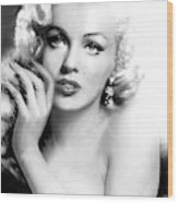 Diva Mm Bw Wood Print