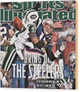 Divisional Playoffs - New York Jets V New England Patriots Sports Illustrated Cover Wood Print