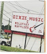 Dixie Music Wood Print