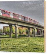 Docklands Light Railway Train  Wood Print