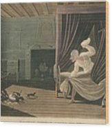 Doctor Syntax Loses His Wig, 1820 Wood Print