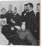 Doctors Watch Hypnotist Put Patient Wood Print