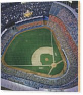 Dodger Stadium Wood Print
