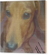 Doggone Wood Print