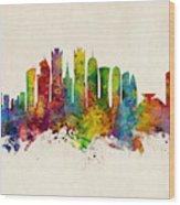 Doha Qatar Skyline Wood Print