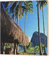 Dolarog Beach Resort With Inabuyatan Wood Print