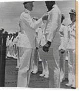 Dorie Miller Receiving Navy Cross Wood Print