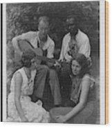 Doris Ulmann   1882-1934  Four Musicians Including A Man Playing A Guitar, A Man Playing A Violin Wood Print