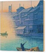 Dotonbori Morning - Top Quality Image Edition Wood Print