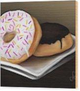 Doughnut Life Wood Print