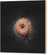 Doughnut With Powdered Sugar Wood Print