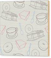 Doughnut_wallpaper_f3 Wood Print